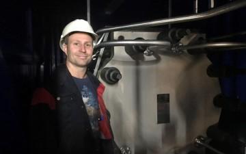 Johan Sjöström vid vätgasanläggningen