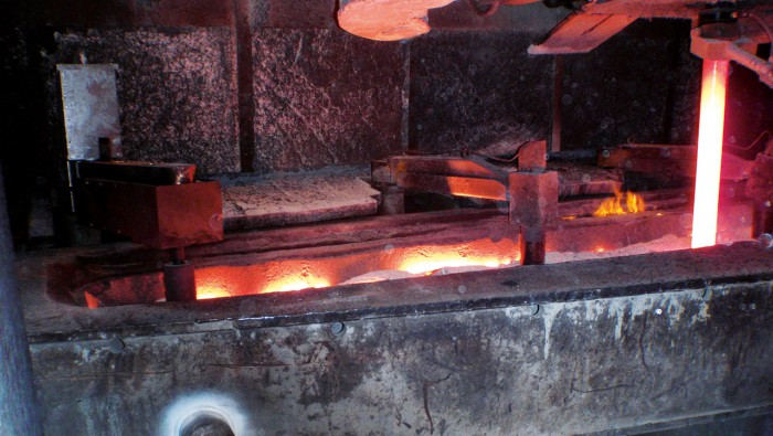 Rotating flow in continuous casting