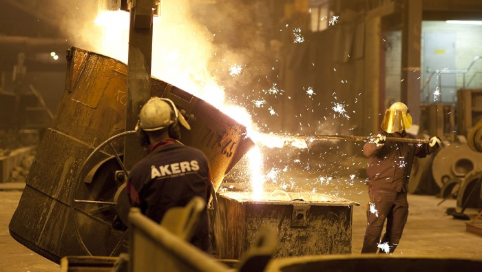 Casting at Åkers foundry