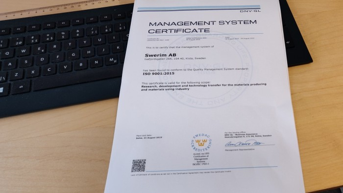 ISO 9001-certifikat