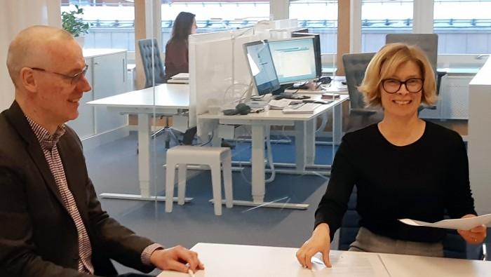 Pontus Sjöberg och Birgitta Bergvall-Kåreborn